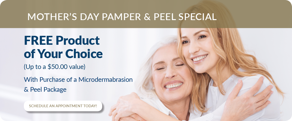 Free Product of Your Choice (Up to a $50.00 value) with purchase of a Microdermabrasion & Peel Package